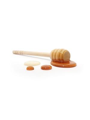 Cuillère en bois de bambou avec miel